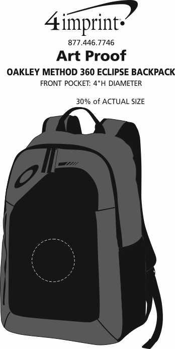 Imprint Area of Oakley Method 360 Eclipse Backpack