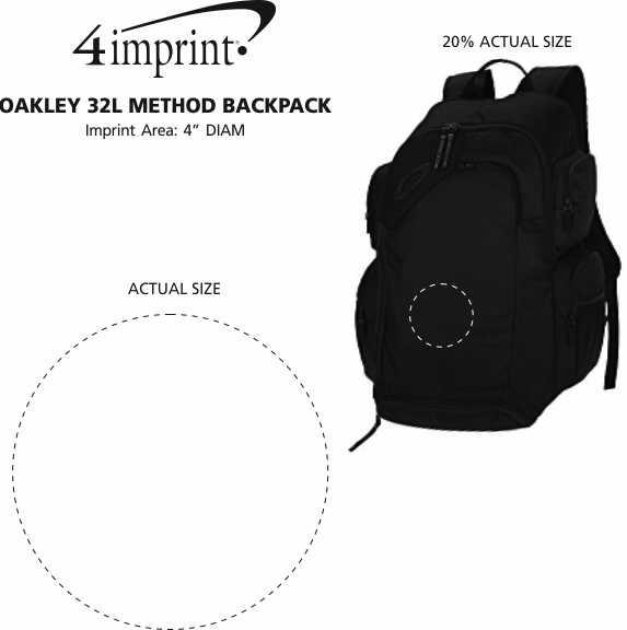 Imprint Area of Oakley 32L Method Backpack