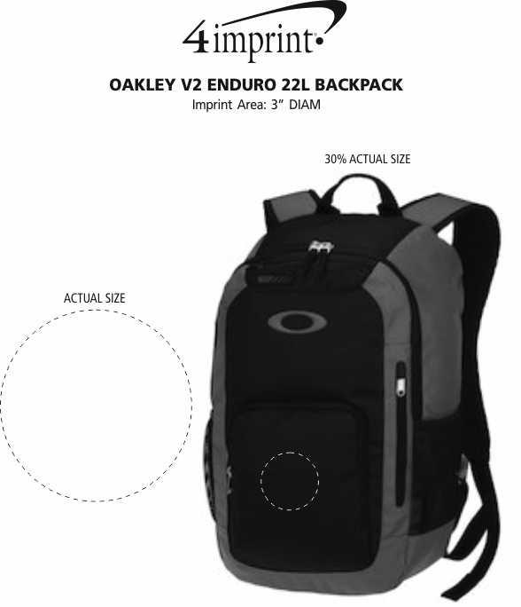 Imprint Area of Oakley v2 Enduro 22L Backpack