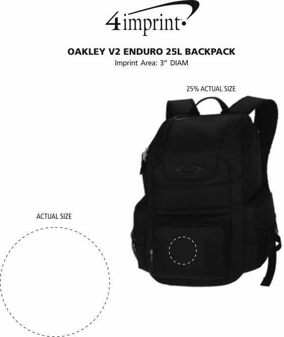 Imprint Area of Oakley v2 Enduro 25L Backpack