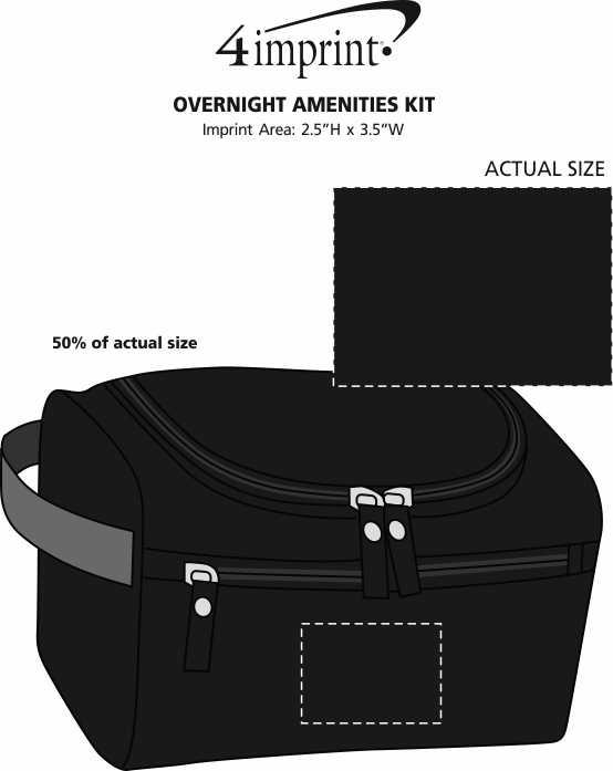 Imprint Area of Overnight Amenities Kit