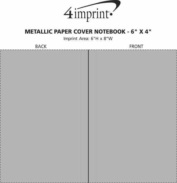 "Imprint Area of Metallic Paper Cover Notebook - 6"" x 4"""