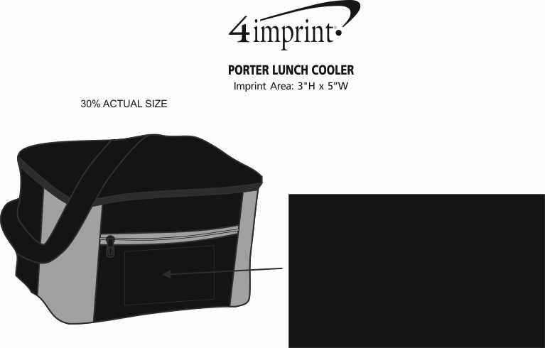 Imprint Area of Porter Lunch Cooler