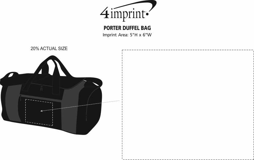 Imprint Area of Porter Duffel Bag