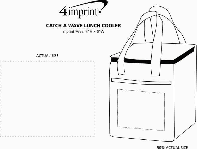Imprint Area of Catch a Wave Lunch Cooler