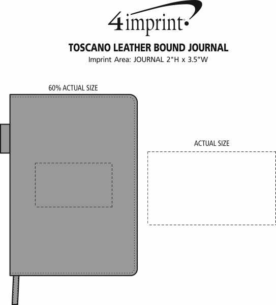 Imprint Area of Toscano Leather Bound Journal