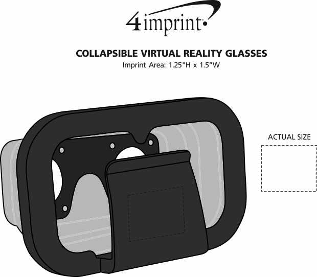 Imprint Area of Collapsible Virtual Reality Glasses