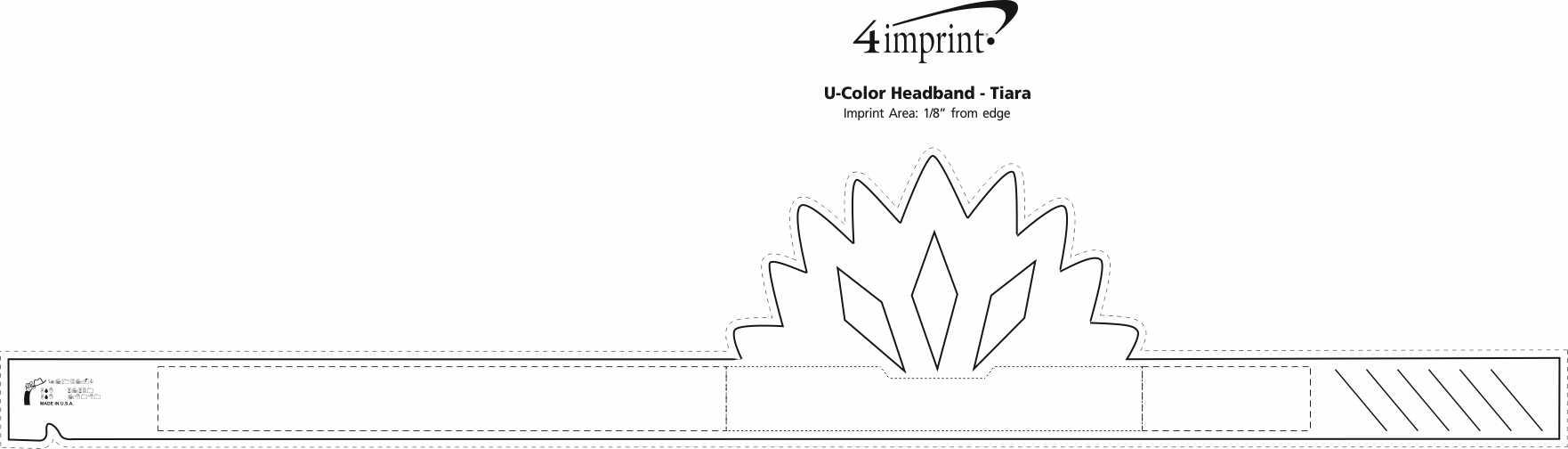 Imprint Area of U-Color Headband - Tiara