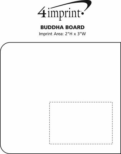 Imprint Area of Buddha Board