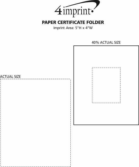 Imprint Area of Paper Certificate Folder