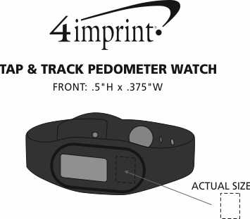 Imprint Area of Tap & Track Pedometer Watch