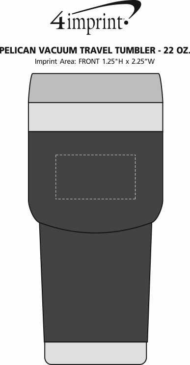 Imprint Area of Pelican Vacuum Travel Tumbler - 22 oz.