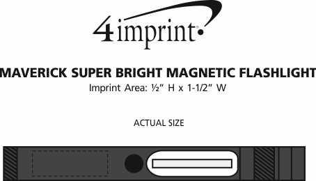 Imprint Area of Maverick COB Magnetic Flashlight
