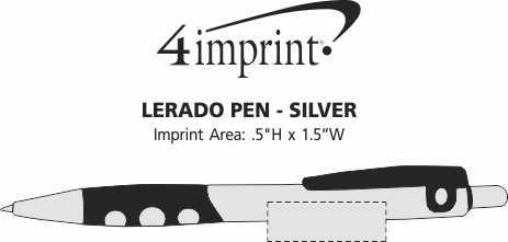 Imprint Area of Lerado Pen - Silver