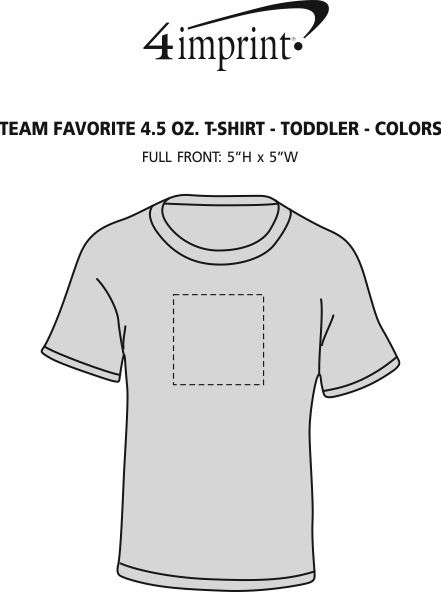 Imprint Area of Team Favorite 4.5 oz. T-Shirt - Toddler - Screen