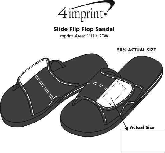 Imprint Area of Slide Flip Flop Sandal