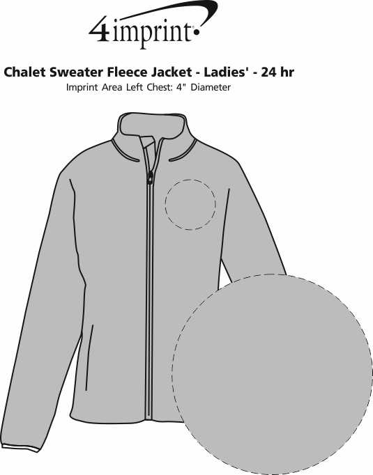 Imprint Area of Chalet Sweater Fleece Jacket - Ladies' - 24 hr