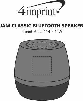 Imprint Area of Jam Classic Bluetooth Speaker