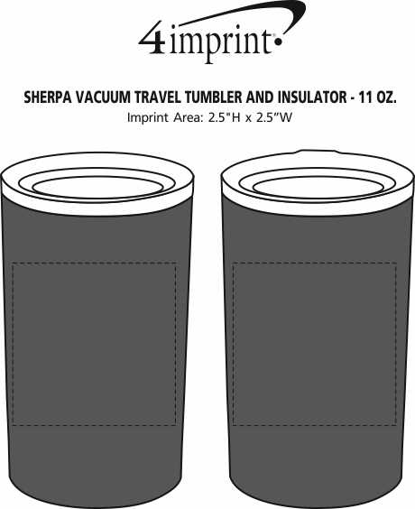 Imprint Area of Sherpa Vacuum Travel Tumbler and Insulator - 11 oz.
