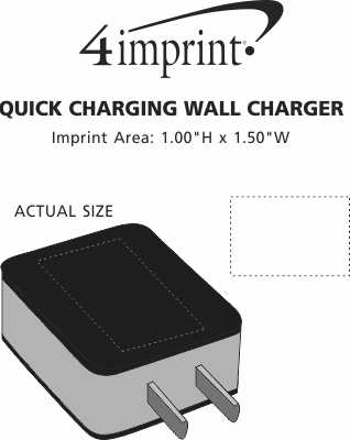 Imprint Area of Quick Charging Wall Charger