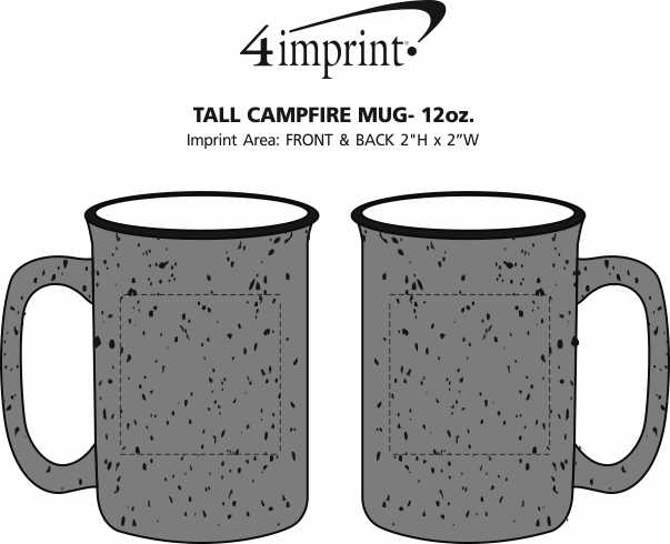 Imprint Area of Tall Campfire Mug - 12 oz. - 24 hr