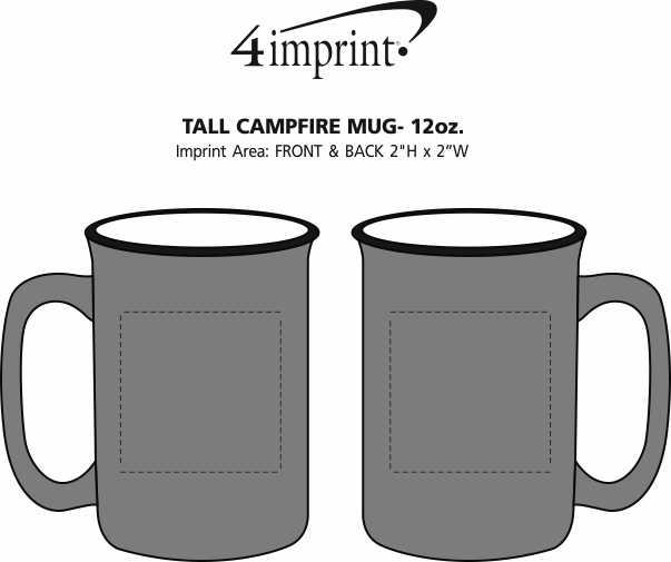 Imprint Area of Tall Campfire Mug - 12 oz.