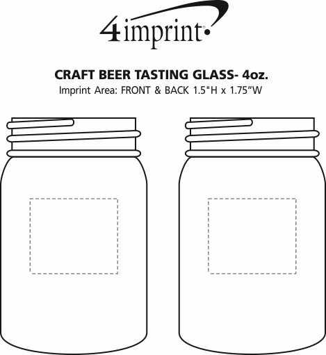 Imprint Area of Craft Beer Tasting Glass - 4 oz.