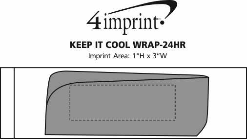 Imprint Area of Keep it Cool Wrap - 24 hr