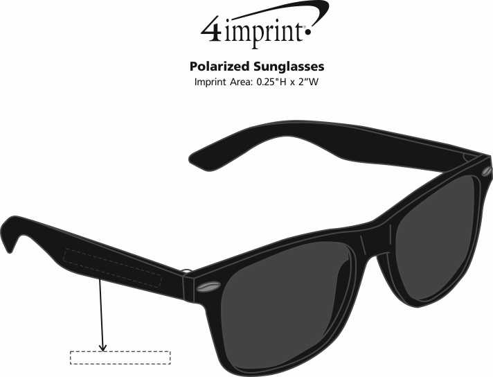 Imprint Area of Polarized Sunglasses