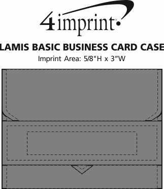 Imprint Area of Lamis Basic Business Card Case