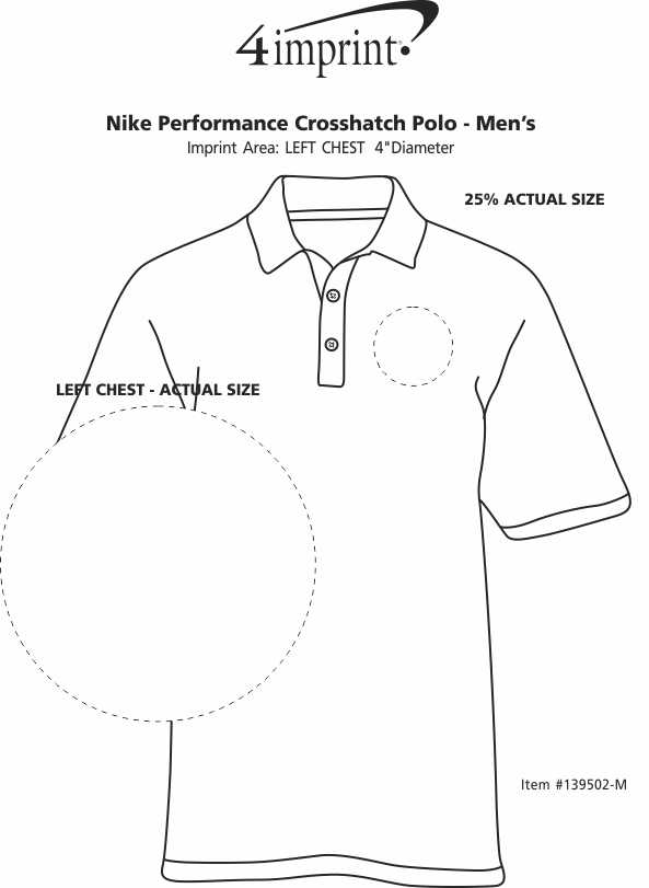 Imprint Area of Nike Performance Crosshatch Polo - Men's
