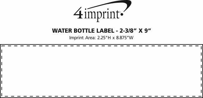 "Imprint Area of Water Bottle Label - 2-3/8"" x 9"""