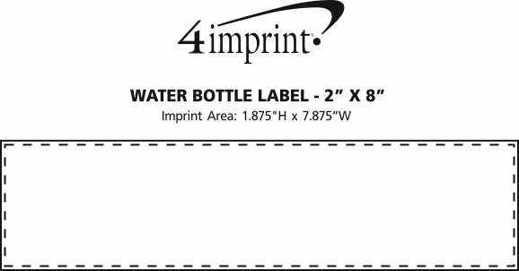 "Imprint Area of Water Bottle Label - 2"" x 8"""