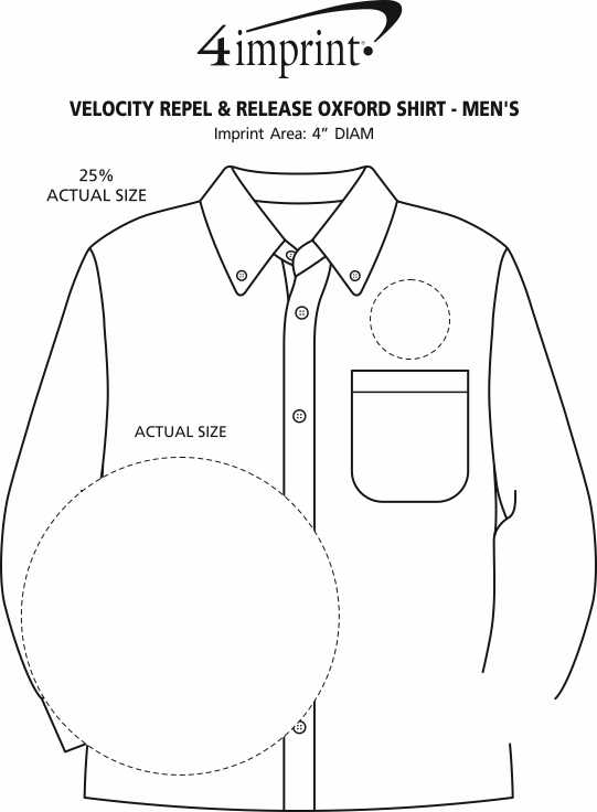 Imprint Area of Velocity Repel & Release Oxford Shirt - Men's