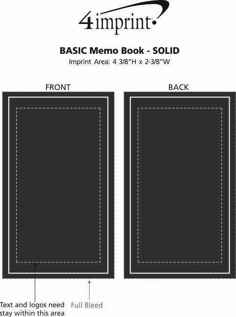 Imprint Area of Memo Book - Solid