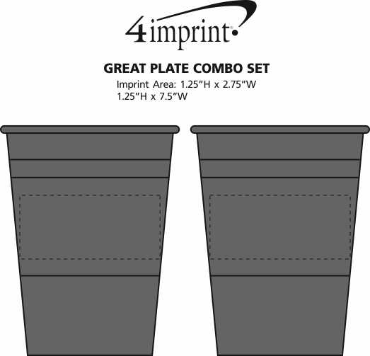 Imprint Area of Great Plate Combo Set
