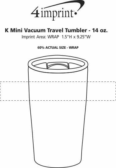 Imprint Area of K Mini Vacuum Travel Tumbler - 14 oz.