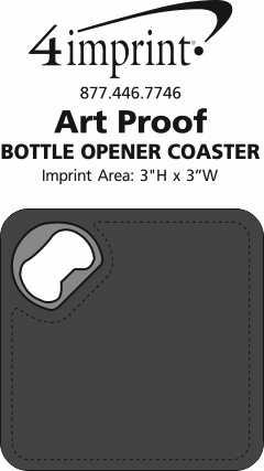 Imprint Area of Bottle Opener Coaster