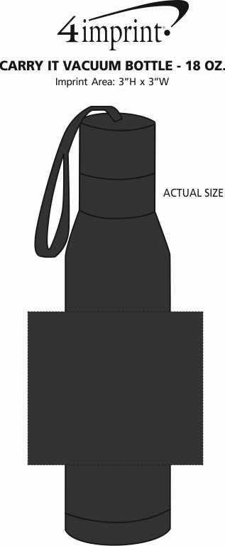 Imprint Area of Carry It Vacuum Bottle - 18 oz.