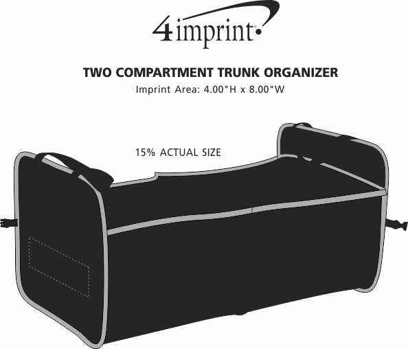 Imprint Area of Two Compartment Trunk Organizer