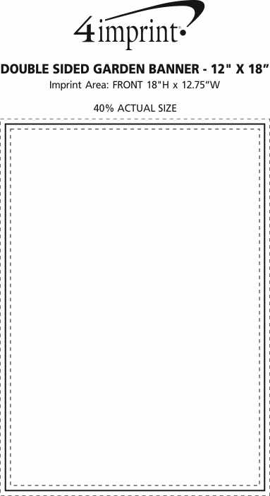 """Imprint Area of Double Sided Garden Banner - 12"""" x 18"""""""