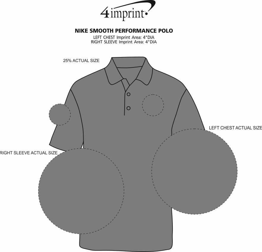 Imprint Area of Nike Smooth Performance Polo
