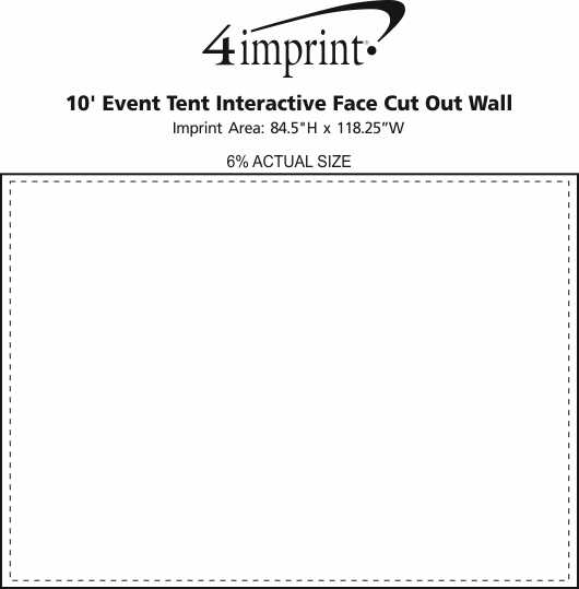 Imprint Area of 10' Event Tent Interactive Face Cut Out Wall