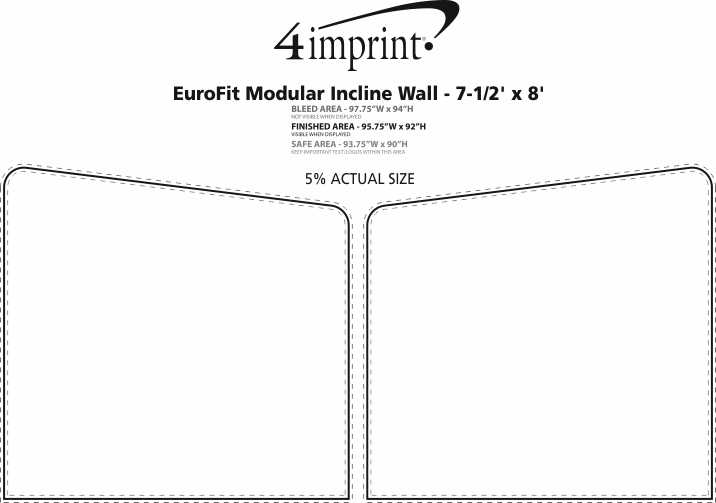 Imprint Area of EuroFit Modular Incline Wall - 7-1/2' x 8'