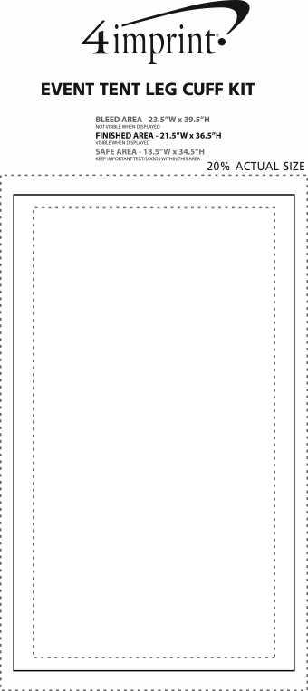 Imprint Area of Event Tent Leg Cuff Kit