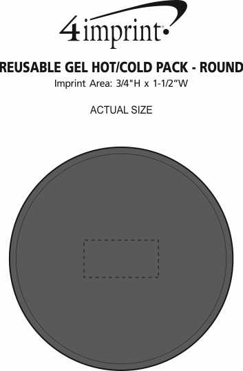 Imprint Area of Reusable Gel Hot/Cold Pack - Round