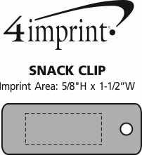 Imprint Area of Snack Clip
