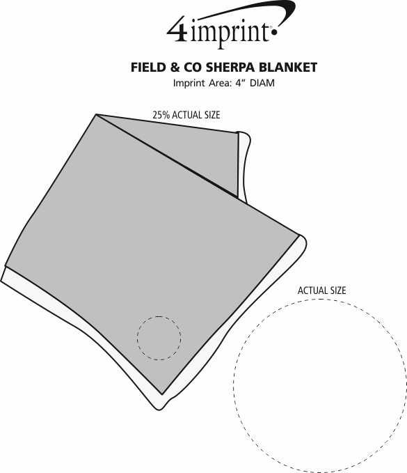 Imprint Area of Field & Co. Sherpa Blanket