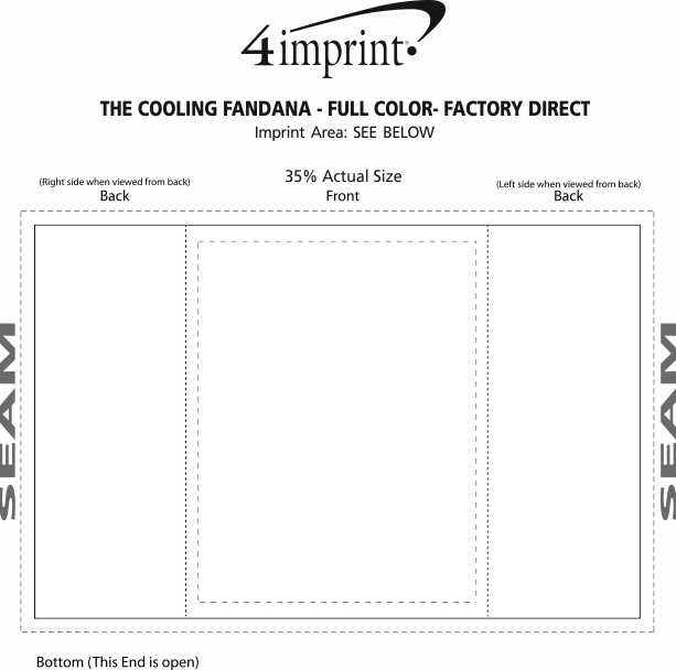 Imprint Area of The Cooling Fandana - Full Color- Factory Direct