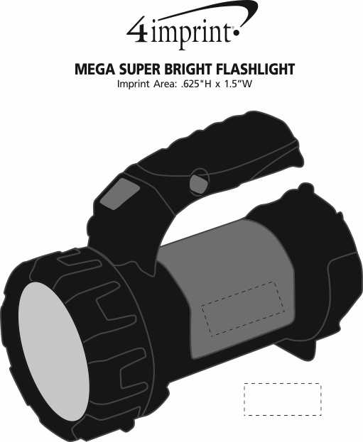 Imprint Area of Mega COB Flashlight